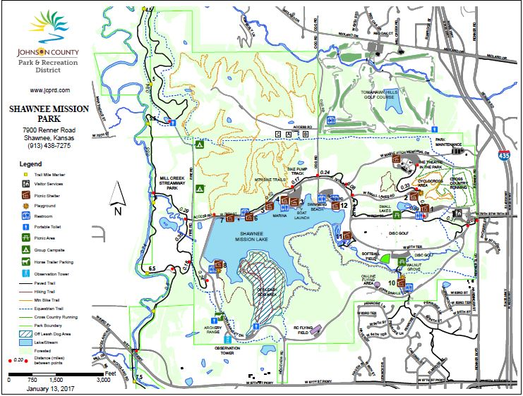 Shawnee Mission Park Map Great Plains ASHI Chapter   Meeting/Event Information Shawnee Mission Park Map